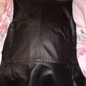100% leather blouse. Price Negotiable